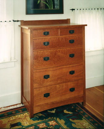 craftsman cherry chest of drawers