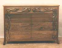 carved walnut dresser